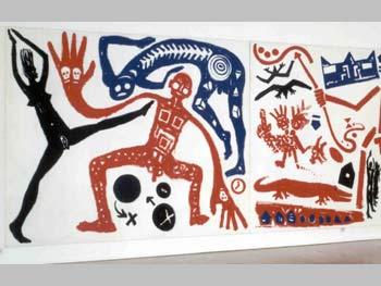 A. R. Penk (Tríptico para Basquiat) [1984]