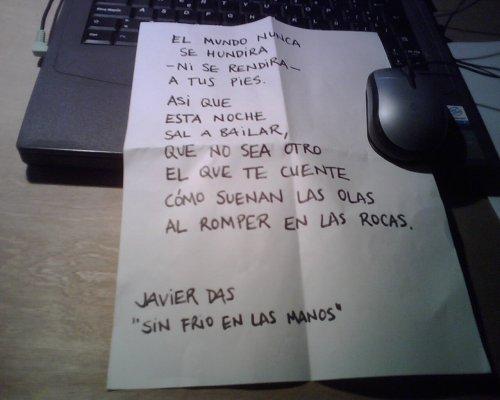 """Javier Das """"Sin frío en las manos"""""""